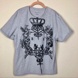 Kenneth Cole Grey Shield Graphic Tee Shirt XL